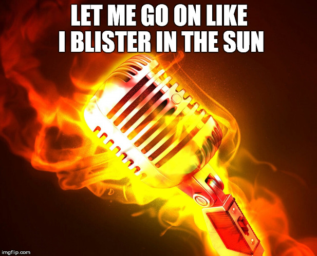 LET ME GO ON LIKE I BLISTER IN THE SUN | made w/ Imgflip meme maker