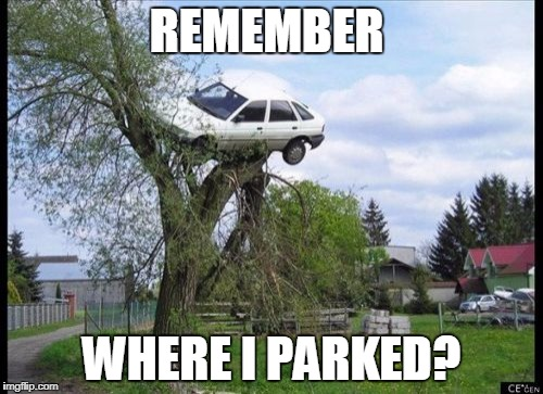 Secure Parking Meme | REMEMBER WHERE I PARKED? | image tagged in memes,secure parking | made w/ Imgflip meme maker
