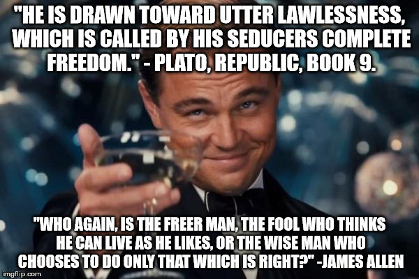 """Wherein they think it strange that ye run not with them to the same excess of riot, speaking evil of you"" 1 Peter 4:4 