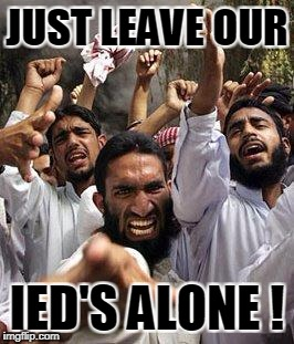 JUST LEAVE OUR IED'S ALONE ! | made w/ Imgflip meme maker