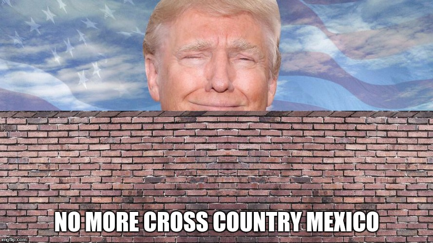 NO MORE CROSS COUNTRY MEXICO | image tagged in no more cross country | made w/ Imgflip meme maker