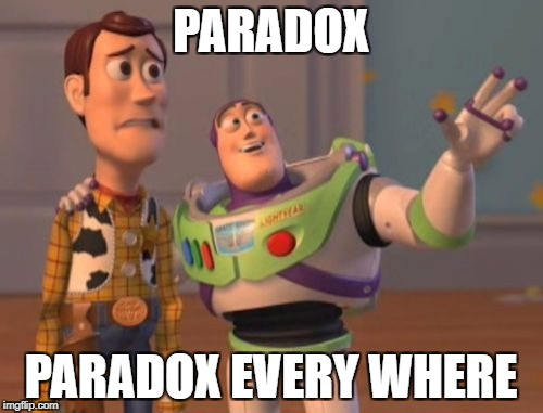 X, X Everywhere Meme | PARADOX PARADOX EVERY WHERE | image tagged in memes,x x everywhere | made w/ Imgflip meme maker