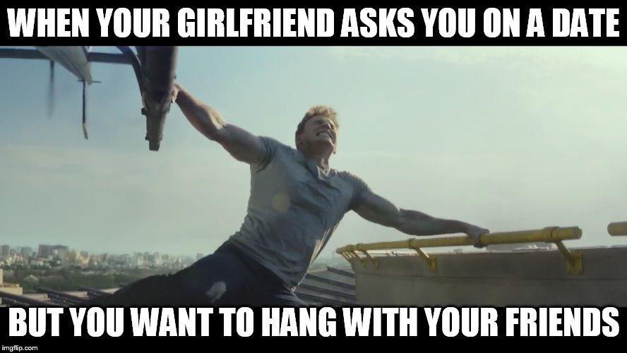 Undecided Captain America | WHEN YOUR GIRLFRIEND ASKS YOU ON A DATE BUT YOU WANT TO HANG WITH YOUR FRIENDS | image tagged in undecided captain america | made w/ Imgflip meme maker