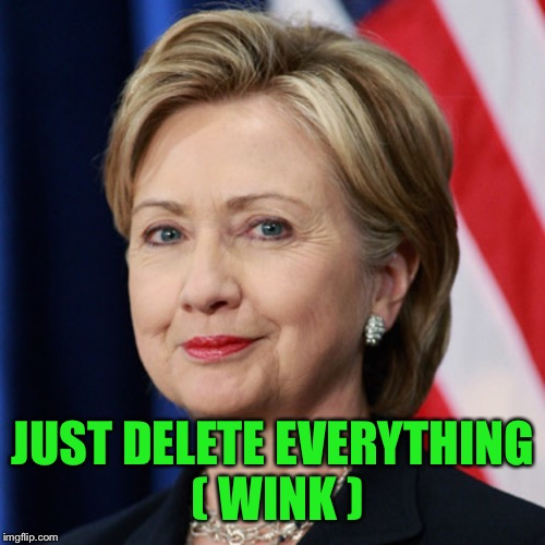 JUST DELETE EVERYTHING ( WINK ) | made w/ Imgflip meme maker