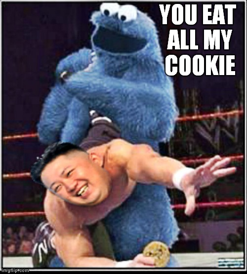 YOU EAT ALL MY COOKIE | made w/ Imgflip meme maker