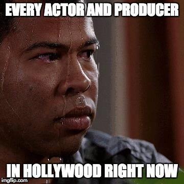 EVERY ACTOR AND PRODUCER IN HOLLYWOOD RIGHT NOW | image tagged in key and peele sweating | made w/ Imgflip meme maker