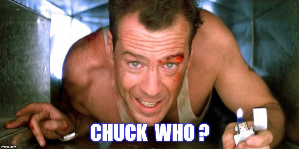 CHUCK  WHO ? | made w/ Imgflip meme maker
