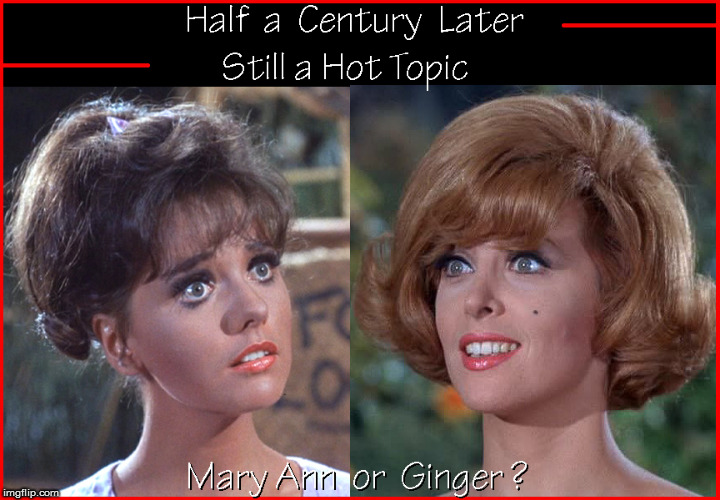 Half a Century later-still a Hot Topic | image tagged in ginger and mary ann,gilligan's island,hot babes,babes,lol so funny,funny memes | made w/ Imgflip meme maker