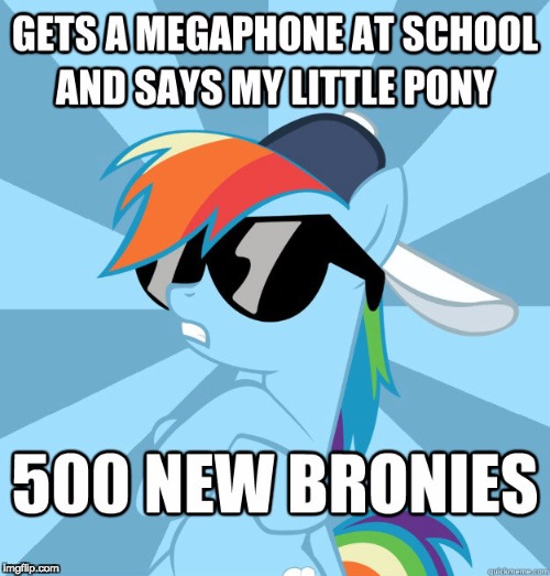I would love this! | image tagged in memes,bronies,megaphone,my little pony | made w/ Imgflip meme maker