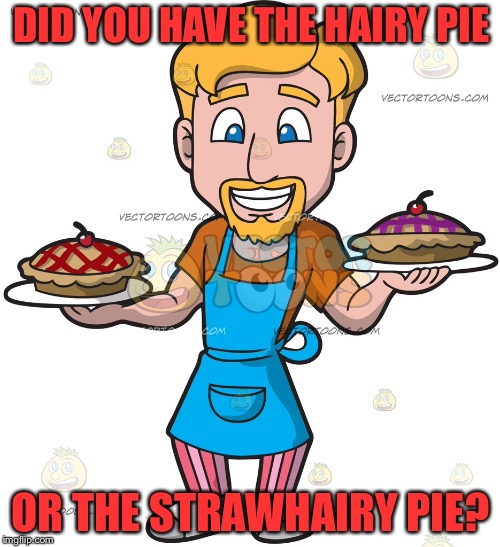 DID YOU HAVE THE HAIRY PIE OR THE STRAWHAIRY PIE? | made w/ Imgflip meme maker