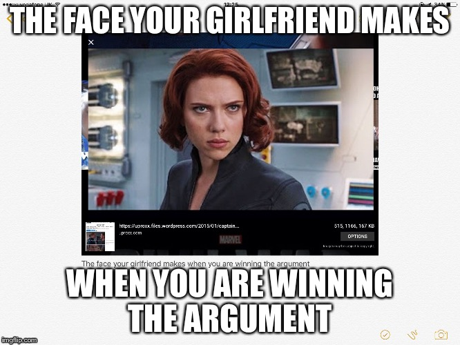 THE FACE YOUR GIRLFRIEND MAKES WHEN YOU ARE WINNING THE ARGUMENT | image tagged in true | made w/ Imgflip meme maker