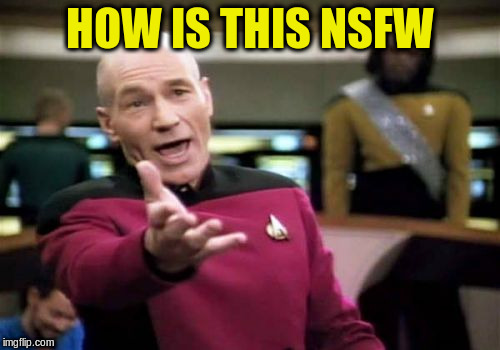 Picard Wtf Meme | HOW IS THIS NSFW | image tagged in memes,picard wtf | made w/ Imgflip meme maker