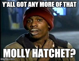 Y'all Got Any More Of That Meme | Y'ALL GOT ANY MORE OF THAT MOLLY HATCHET? | image tagged in memes,yall got any more of | made w/ Imgflip meme maker