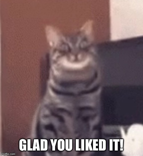 Catnip | GLAD YOU LIKED IT! | image tagged in catnip | made w/ Imgflip meme maker