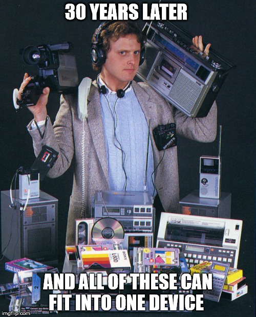 Back in the Day  | 30 YEARS LATER AND ALL OF THESE CAN FIT INTO ONE DEVICE | image tagged in cd,boombox,cell phone | made w/ Imgflip meme maker