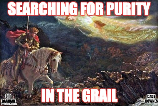 SEARCHING FOR PURITY IN THE GRAIL CADE DOWNES SIR GALAHAD | image tagged in king arthur | made w/ Imgflip meme maker
