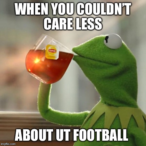 But Thats None Of My Business Meme | WHEN YOU COULDN'T CARE LESS ABOUT UT FOOTBALL | image tagged in memes,but thats none of my business,kermit the frog | made w/ Imgflip meme maker