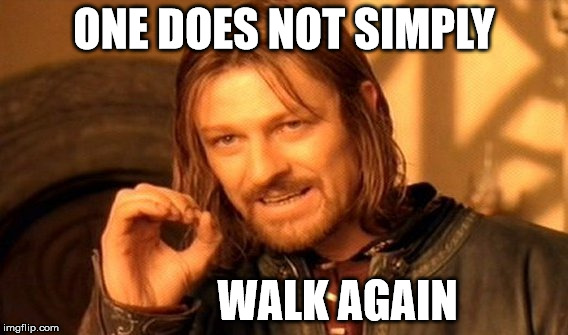 One Does Not Simply Meme | ONE DOES NOT SIMPLY WALK AGAIN | image tagged in memes,one does not simply | made w/ Imgflip meme maker