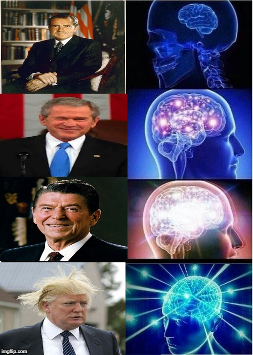 Expanding Brain Meme | image tagged in memes,expanding brain,president,donald trump,republicans | made w/ Imgflip meme maker