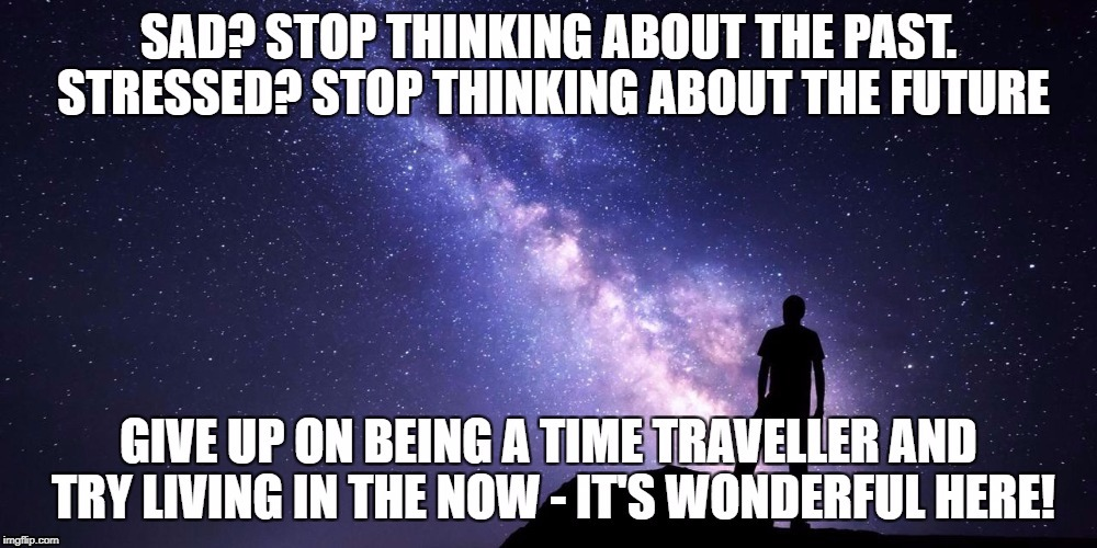 Are you a Time Traveller? | image tagged in positive thinking,positive,mindfulness,living for today | made w/ Imgflip meme maker