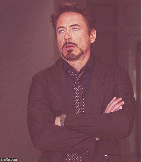 Face You Make Robert Downey Jr Meme | image tagged in memes,face you make robert downey jr | made w/ Imgflip meme maker
