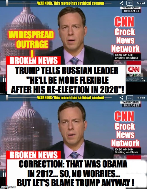 "WIDESPREAD OUTRAGE ! TRUMP TELLS RUSSIAN LEADER ""HE'LL BE MORE FLEXIBLE AFTER HIS RE-ELECTION IN 2020""! WMWMWMWM WMWMWMWM WMWMWMWM WMWMWMWM  