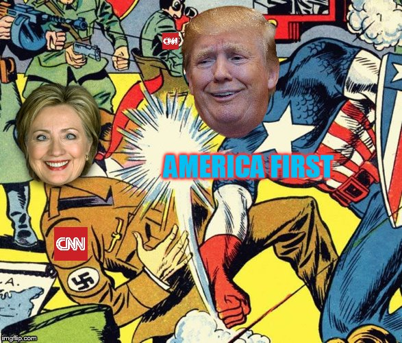 Captain America | AMERICA FIRST | image tagged in donald trump approves,president trump,cnn sucks,antifa,make america great again,nazi | made w/ Imgflip meme maker