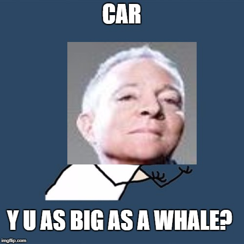 Y U No Meme | CAR Y U AS BIG AS A WHALE? | image tagged in memes,y u no | made w/ Imgflip meme maker
