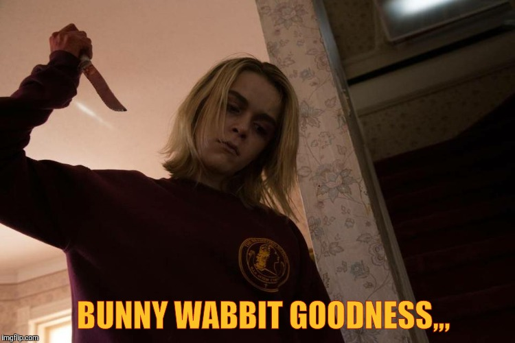 Meet my knife,,, | BUNNY WABBIT GOODNESS,,, | image tagged in meet my knife   | made w/ Imgflip meme maker