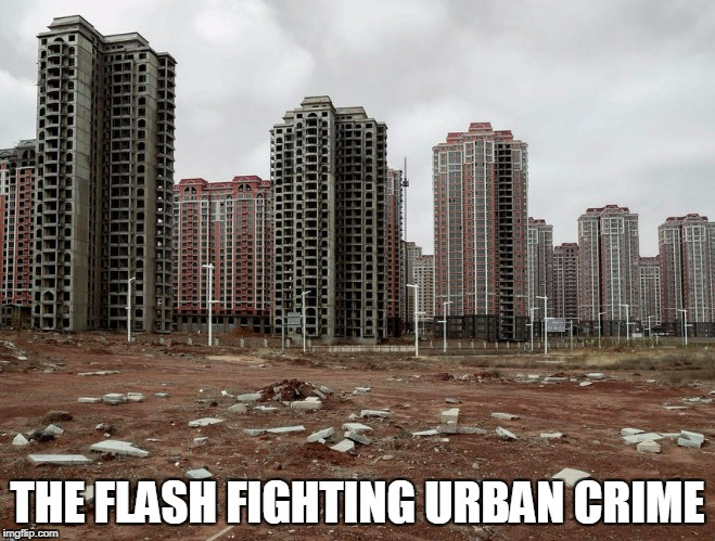 THE FLASH FIGHTING URBAN CRIME | made w/ Imgflip meme maker