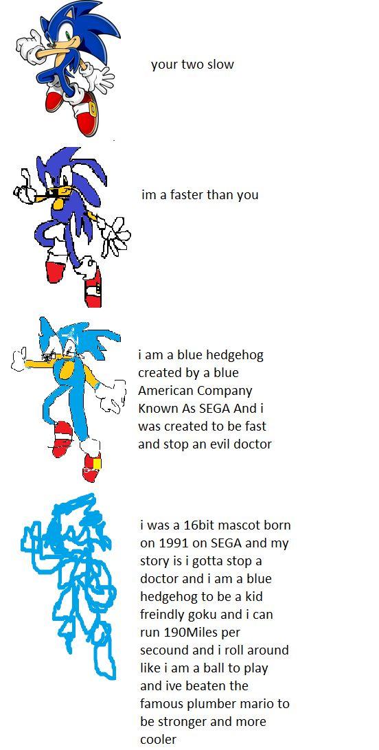 Sonic Increasingly Verbose Meme Blank Template Imgflip