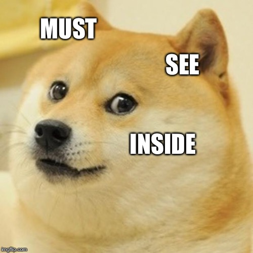 Doge Meme | MUST SEE INSIDE | image tagged in memes,doge | made w/ Imgflip meme maker