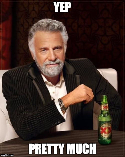 The Most Interesting Man In The World Meme | YEP PRETTY MUCH | image tagged in memes,the most interesting man in the world | made w/ Imgflip meme maker