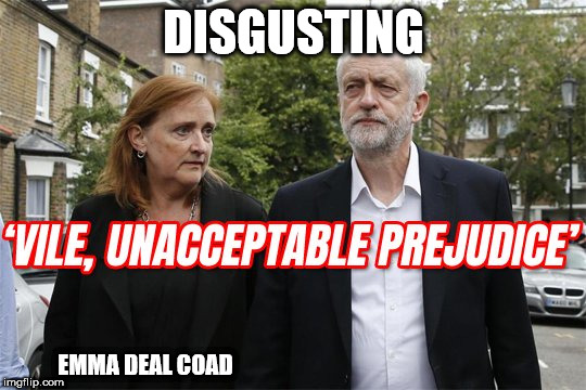 "Corbyn racist issue ""token ghetto boy"" and ""free loading scumbag"" 
