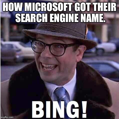 Ned the head! | HOW MICROSOFT GOT THEIR SEARCH ENGINE NAME. | image tagged in ned,groundhog day,bill murray,thats nice meme,the ripper | made w/ Imgflip meme maker