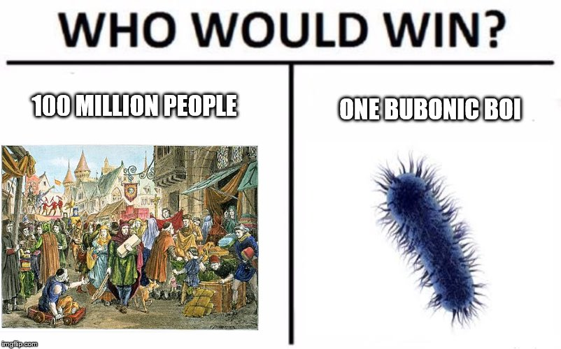 Who Would Win? Meme | 100 MILLION PEOPLE ONE BUBONIC BOI | image tagged in who would win | made w/ Imgflip meme maker