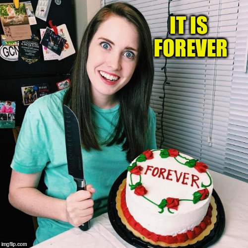 IT IS FOREVER | made w/ Imgflip meme maker