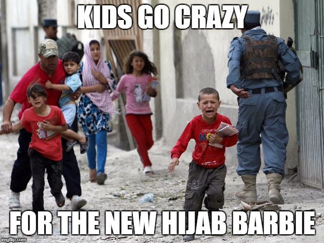 KIDS GO CRAZY FOR THE NEW HIJAB BARBIE | image tagged in barbie | made w/ Imgflip meme maker