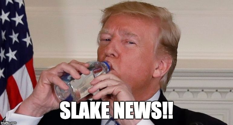Slake News | SLAKE NEWS!! | image tagged in trump,donald trump | made w/ Imgflip meme maker