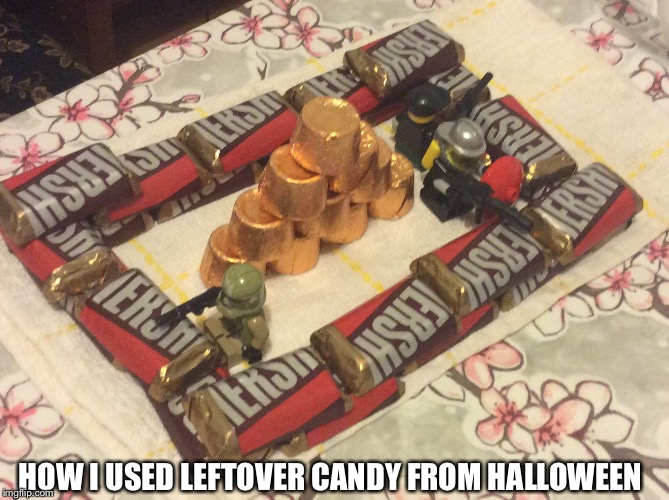 What To Use Candy For | HOW I USED LEFTOVER CANDY FROM HALLOWEEN | image tagged in memes,halloween,legos,candy | made w/ Imgflip meme maker
