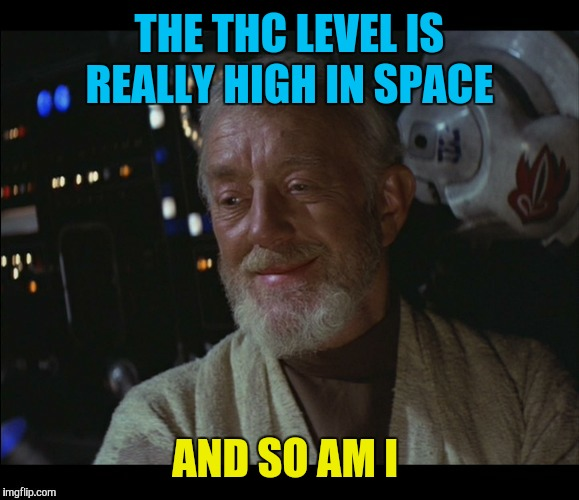 THE THC LEVEL IS REALLY HIGH IN SPACE AND SO AM I | made w/ Imgflip meme maker
