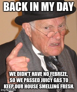 "Back in My ""Stinky"" Day 