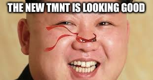 TMNT= Teenage mutant ninja turtles | THE NEW TMNT IS LOOKING GOOD | image tagged in kim jong un | made w/ Imgflip meme maker