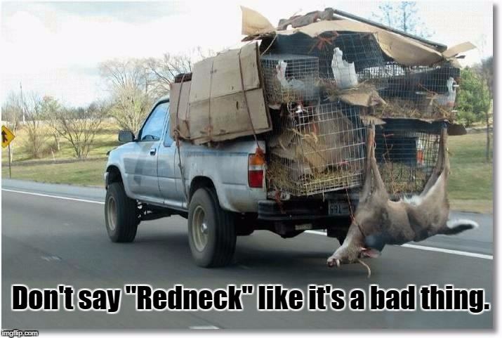 "Don't say ""Redneck"" like it's a bad thing. 