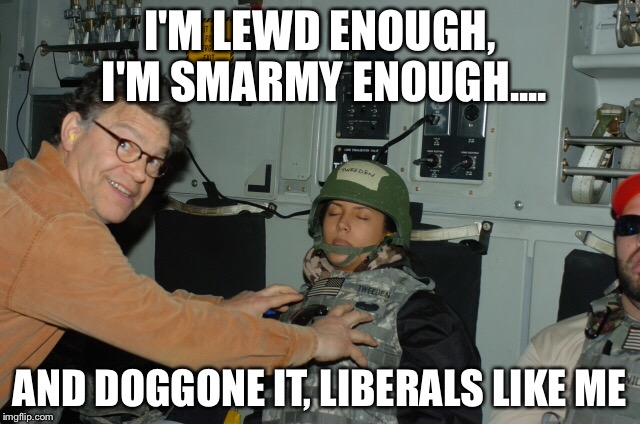 Al Franken | I'M LEWD ENOUGH, I'M SMARMY ENOUGH.... AND DOGGONE IT, LIBERALS LIKE ME | image tagged in al franken,stuart smalley | made w/ Imgflip meme maker