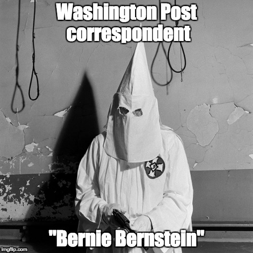 "Undercover reporting. | Washington Post correspondent ""Bernie Bernstein"" 