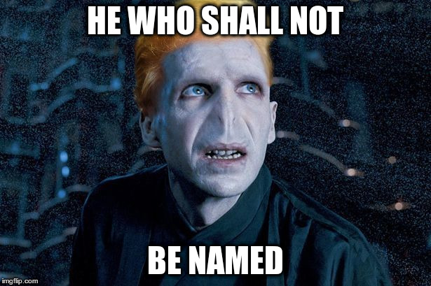 HE WHO SHALL NOT BE NAMED | image tagged in twitlermort | made w/ Imgflip meme maker