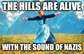 Look At All These Meme | THE HILLS ARE ALIVE WITH THE SOUND OF NAZIS | image tagged in memes,look at all these | made w/ Imgflip meme maker