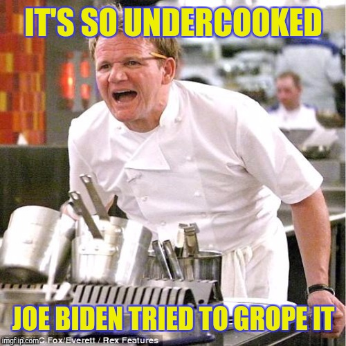 IT'S SO UNDERCOOKED JOE BIDEN TRIED TO GROPE IT | made w/ Imgflip meme maker