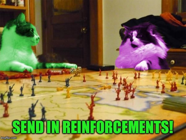 Imperialism RayCats | SEND IN REINFORCEMENTS! | image tagged in imperialism raycats | made w/ Imgflip meme maker